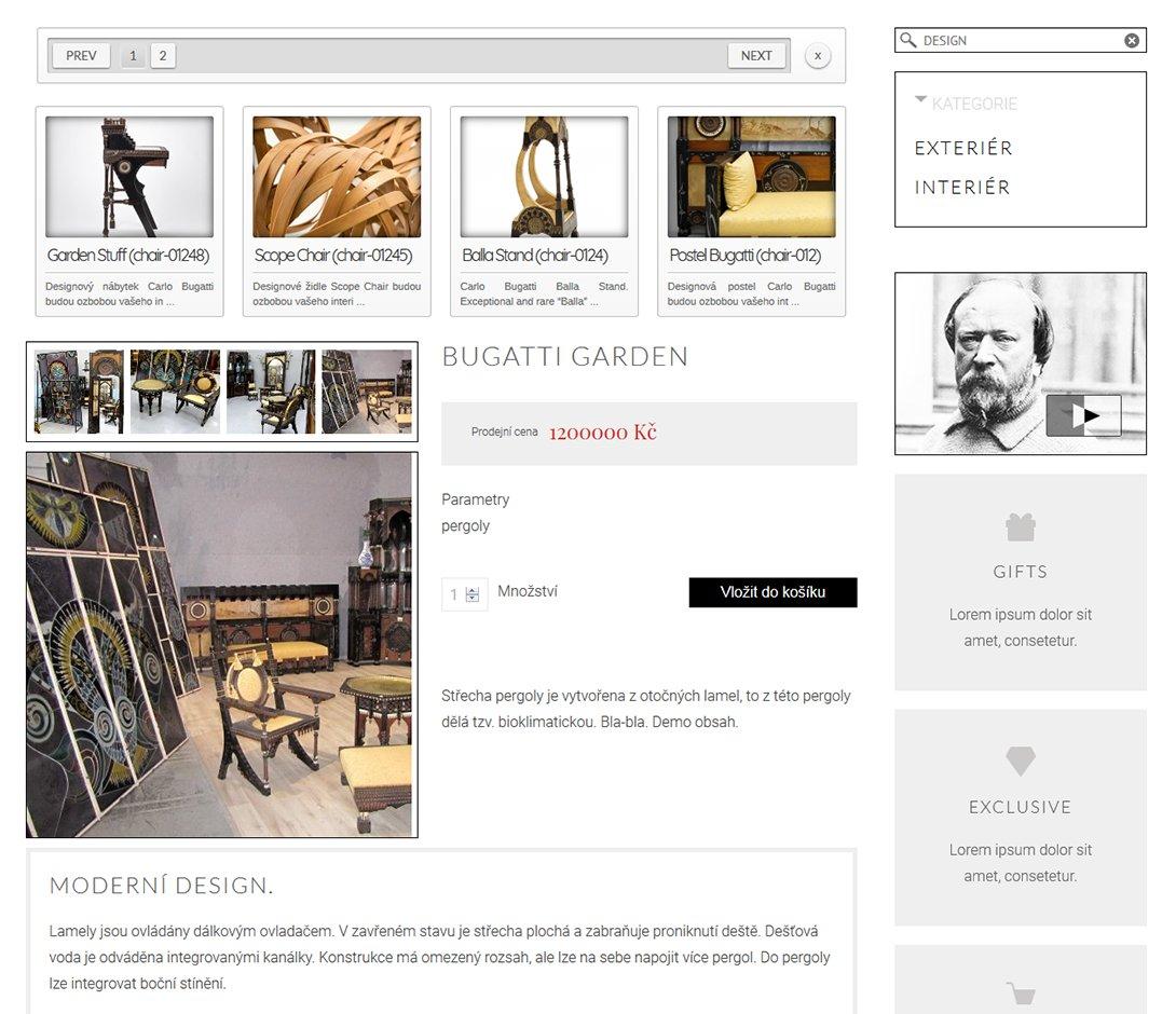 Moderner Online-Shop