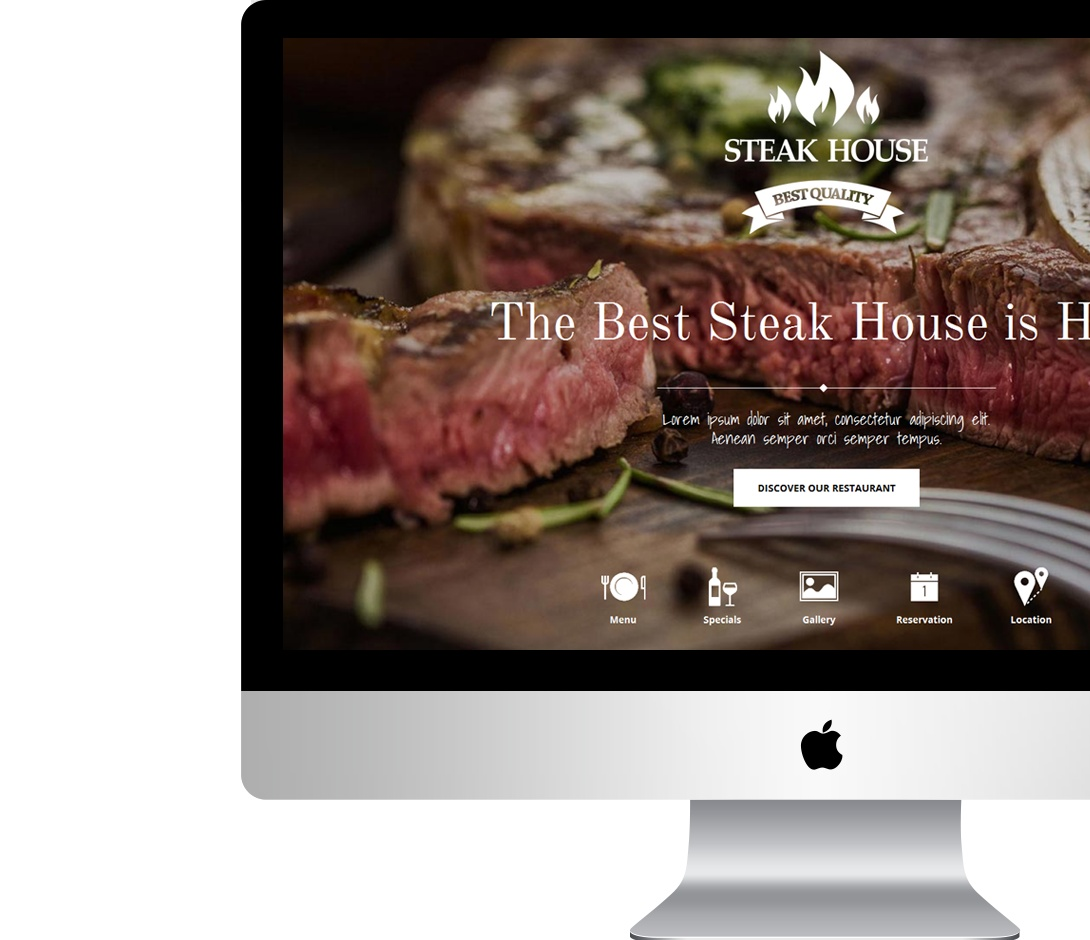 professional restaurant website